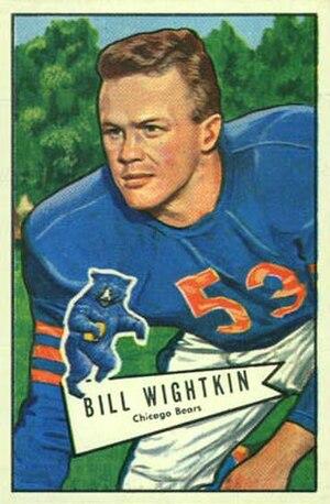 Bill Wightkin - Wightkin on a 1952 Bowman football card