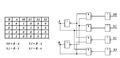 Binární dekodér s pravdivostní tabulkou(Dichotomous decoder with verity table).png
