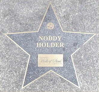 Noddy Holder - Birmingham Walk of Stars on Broad Street, Birmingham