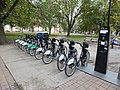 Bixi bike kiosk on Queen and Bond, 2013 10 21 (1).jpg