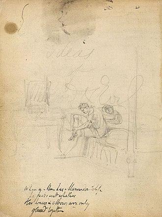 Notebook of William Blake - Image: Blake manuscript Notebook page 004