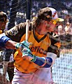 Blue Jays third baseman Josh Donaldson takes batting practice on Gatorade All-Star Workout Day. (28059134534).jpg