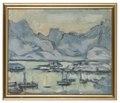 Boat with Net. Study from Lofoten (Anna Boberg) - Nationalmuseum - 20471.tif