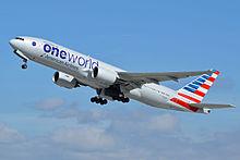 Боинг 777-200ER American Airlines в новой стандартной ливрее Oneworld