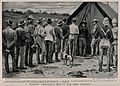 Boer War; thirsty ambulance men queuing up at a beer tent. P Wellcome V0015558.jpg