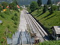 Bohinjska Bistrica-Kobla ski terminal rail halt-towards station.jpg