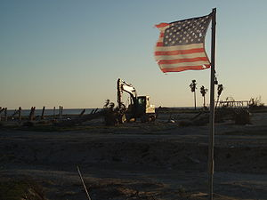 Bolivar Peninsula, Texas - Damage, Reconstruction, and Memorial - Feb 28 2009