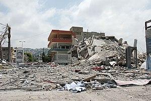 2006 Lebanon War - A building in Ghazieh, near Sidon, bombed by the Israeli Air Force (IAF)