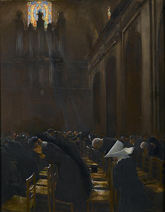 Elevation (liturgy) - The Elevation of the Host by French painter, Jean Béraud (1849–1936)