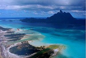 Bora Bora from the air.