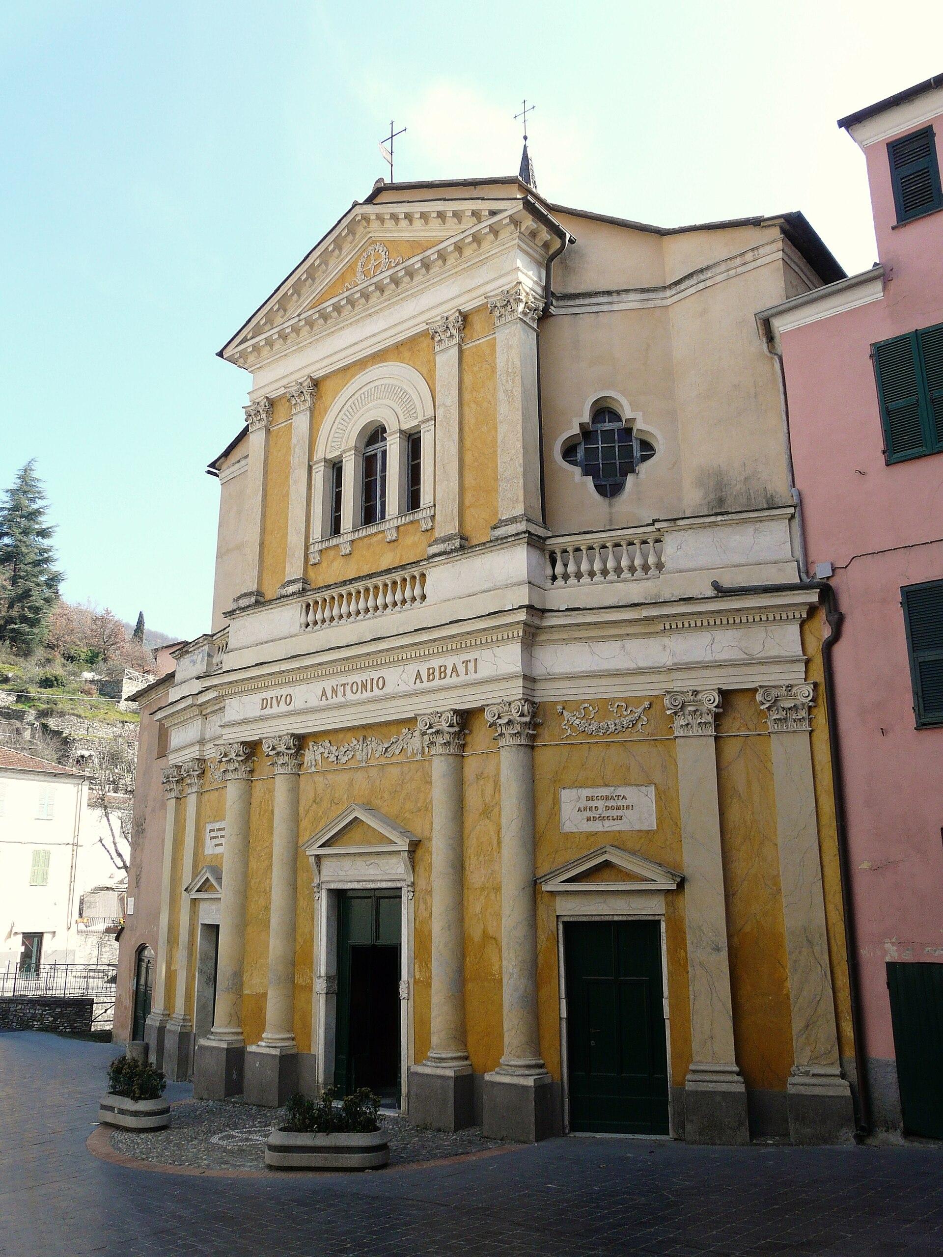 Chiesa di sant 39 antonio abate borgomaro wikipedia for Arredo bimbo sant antonio abate
