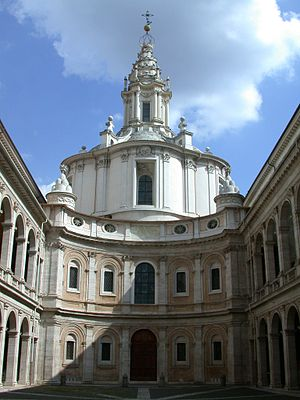 Sapienza University of Rome - Church of Sant'Ivo alla Sapienza, originally the chapel and seat of the university library (until 1935).