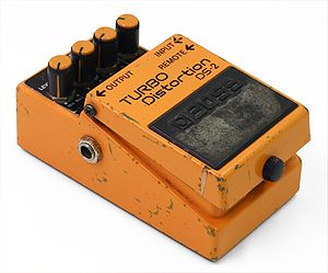 Distortion (music) - Image: Boss turbopedal used
