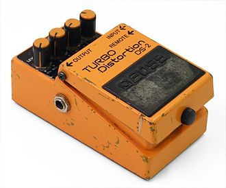 Grunge - The relatively affordable, widely available BOSS DS-2 distortion pedal was one of the key effects (including the related DS-1) that created the growling, overdriven guitar sound in grunge.