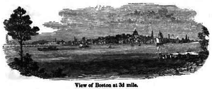 Joseph Wightman - Boston Skyline Circa 1840's