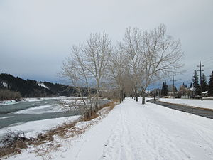 Parkdale, Calgary - Image: Bow River Pathway, Parkdale in winter