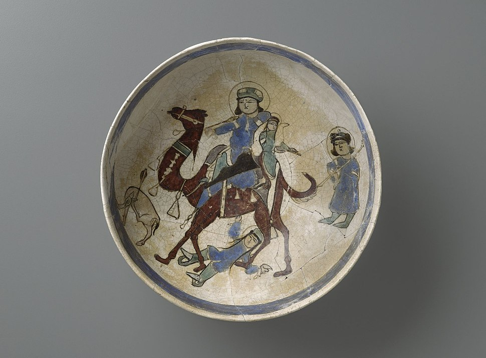 Bowl Depicting Bahram Gur and Azada, late 12th-early 13th century 86.227.11