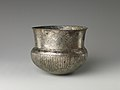 Bowl with flutes from shoulder to rosette at base and with inscribed weight MET DP239395.jpg