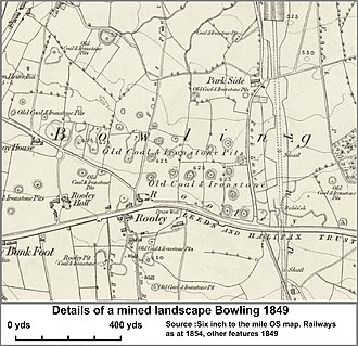 East Bowling - Image: Bowling old pits 1854