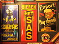 Boxer Schuermans Hards Ale, Het SAS Bieren & Export Muyshondt enamel advertising signs.JPG