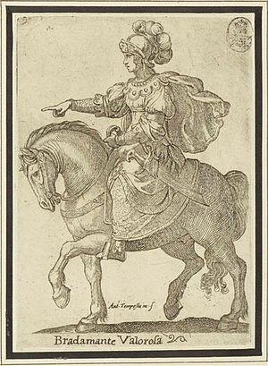 Bradamante - Bradamante valorosa (1597) by Antonio Tempesta