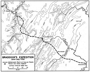 Braddock Expedition - Route of the Braddock Expedition
