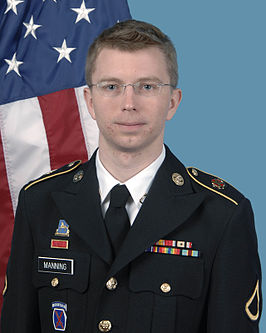 Manning in US Army uniform, april 2012