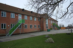 Brædstrup - Brædstrup Municipal School Established c. 1890. Occupied by German troops during World War II.