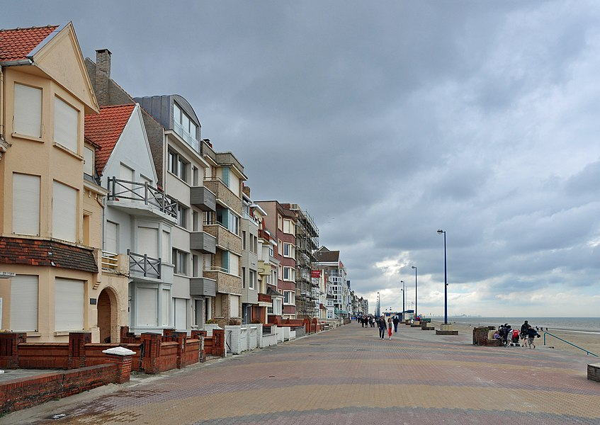 Bray-Dunes (Département du Nord, France): sea promenade