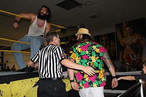 Luke Harper - Harper and Bray Wyatt at an NXT event in October 2012