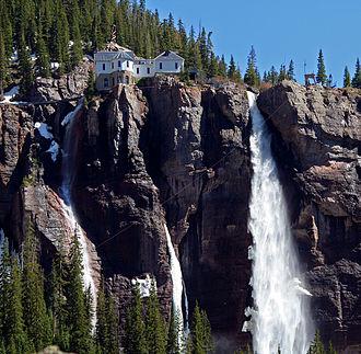 Bridal Veil Falls (Telluride) - Image: Bridal Veil Falls Telluride CO3
