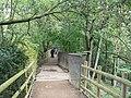 Bridge over the sluice, Golden Acre Park Lake - geograph.org.uk - 259538.jpg
