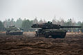 British Challenger 2 and Polish Leopard 2 Tank Operating Together MOD 45158296.jpg
