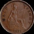 British pre-decimal halfpenny 1936 reverse.png