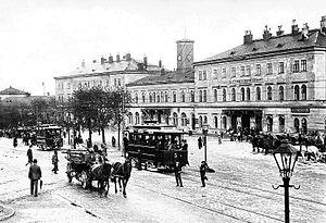 Brno, hlavní nádraží a tramvaje