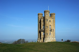 Worcestershire - Broadway Tower, one of several Worcestershire follies