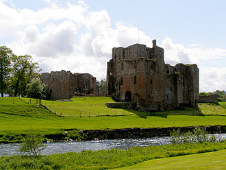 Brougham Castle - Brougham Castle seen from the north east, across the River Eamont