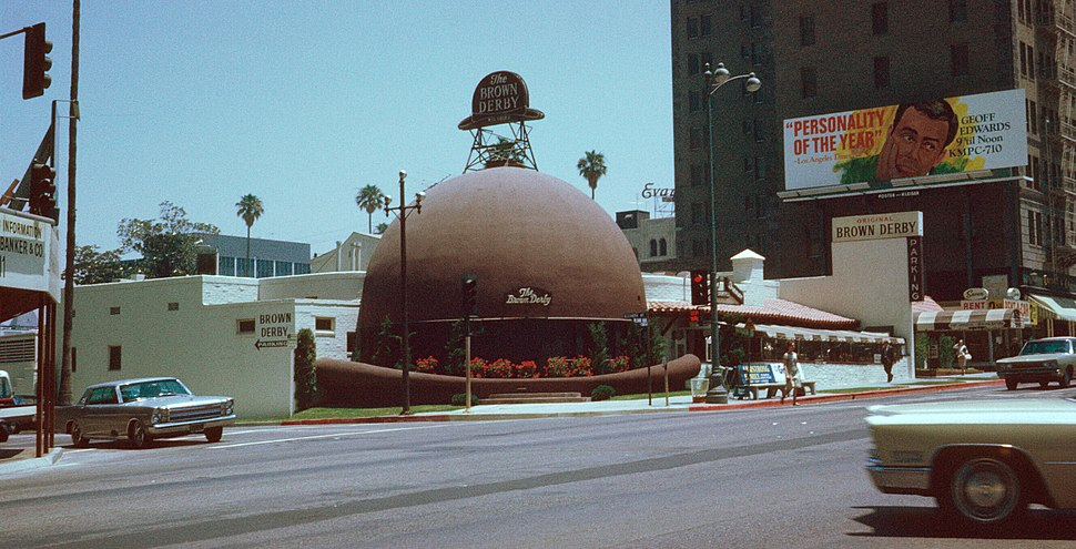 Brown Derby Restaurant, Los Angeles, Kodachrome by Chalmers Butterfield