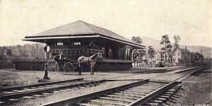 Brown's Station, New York - The former U&D depot in Brown's Station