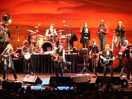 Springsteen and The Sessions Band performing on their tour at the Fila Forum, Milan, Italy on May 12, 2006. Bruce Springsteen Milan 2006 05 12.jpg