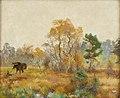 Bruno Liljefors - Älg och gråhund i landskap 1917.jpg