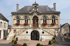 The town hall of Bruyères-et-Montbérault