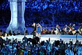 Bryan Adams & Nelly Furtado at 2010 Winter Olympics opening ceremony 2.jpg