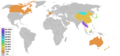 Buddhism percentage by country.png