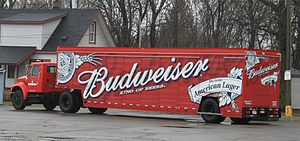 Budweiser - Budweiser beverage delivery truck, Romulus, Michigan