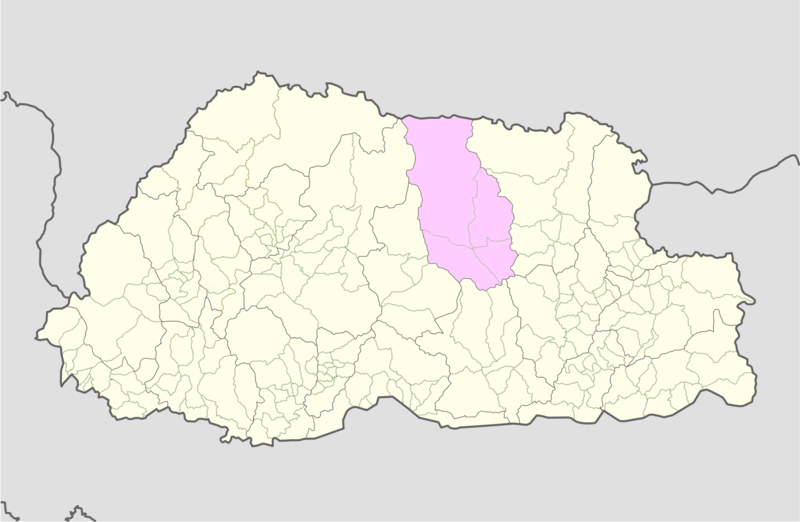 دوتنه:Bumthang Bhutan location map.png