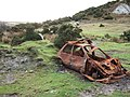 Burnt-out car on Crownhill Down - geograph.org.uk - 314635.jpg