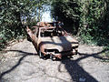 Burnt out car in Bostall Woods - geograph.org.uk - 871597.jpg