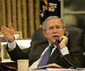 Bush speaks with Nouri al-Maliki by telephone.jpg