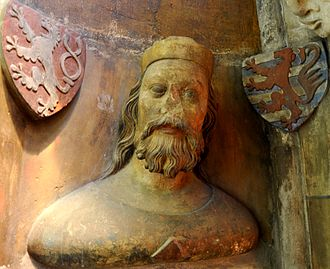 John of Bohemia - 14th-century bust of John of Bohemia, St. Vitus Cathedral